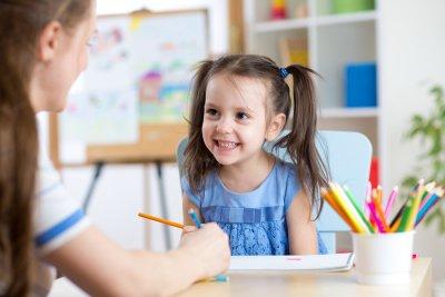 Girl Attending Kindergarten in Pembroke Pines